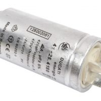 motor run capacitor ducati 2uf tag metal case