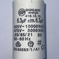 motor run capacitor ducati 6.3uf tag