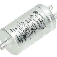 motor run capacitor ducati 6.3uf tag metal case