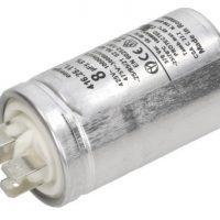 motor run capacitor ducati 8uf tag metal case