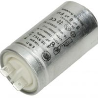 motor run capacitor ducati 8uf tag metal case electrolux zanussi aeg trinity bendix